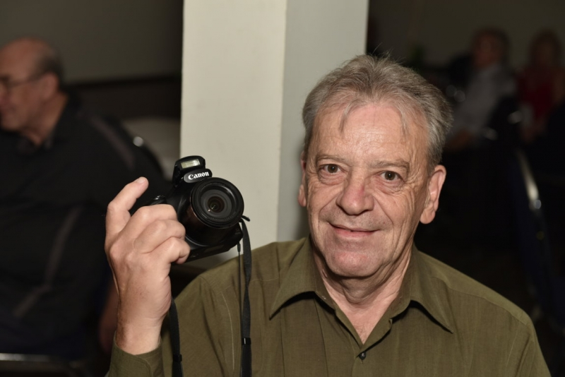 Camera man of the club, Bob Sampson